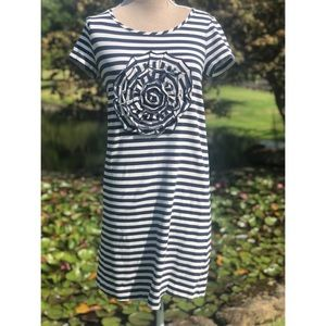 Kate Spade rosette Jersey T-shirt Dress Medium
